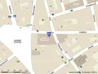 KJM v mapě