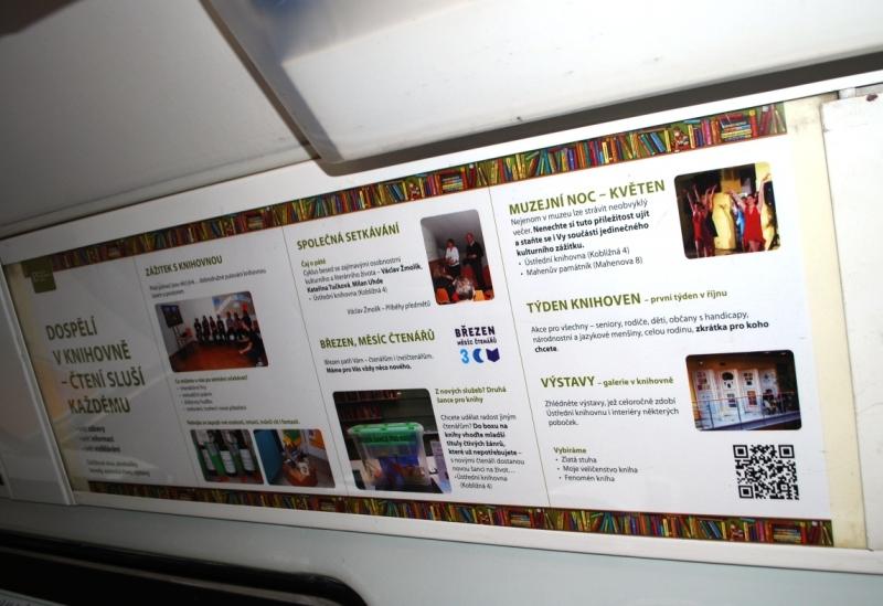 Información bibliotecaria dentro del tranvía